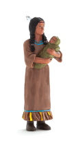 Native American Mother with Baby