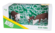 3pc Hereford Cattle Set