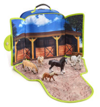 Horse Stable Play-Scape Backpack Set, with 5 figures