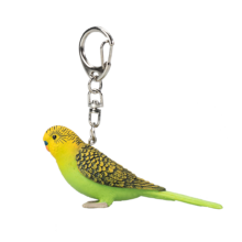 Budgerigar Green Keychain