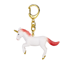 Unicorn Keychain Rearing Red