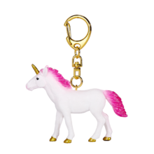 Unicorn Keychain Standing Hot Pink