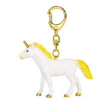 Unicorn Keychain Standing Yellow